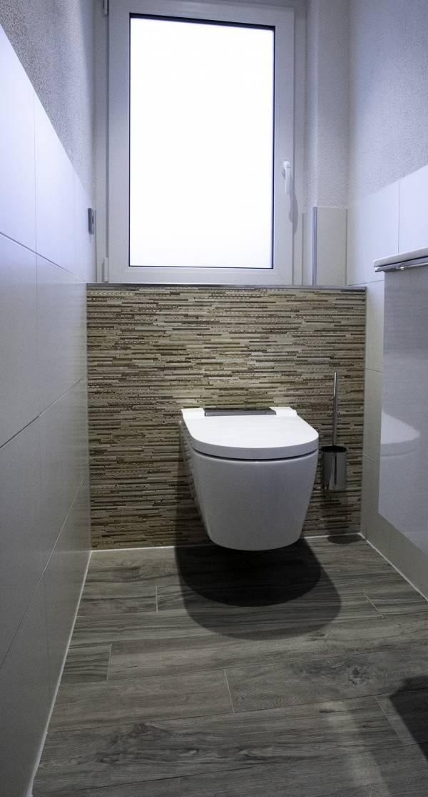 Modernisierung einer Gästetoilette und Einbau eines Dusch-WC'S